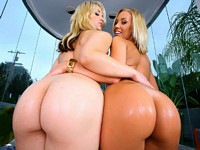 Two Blond Butt Babes