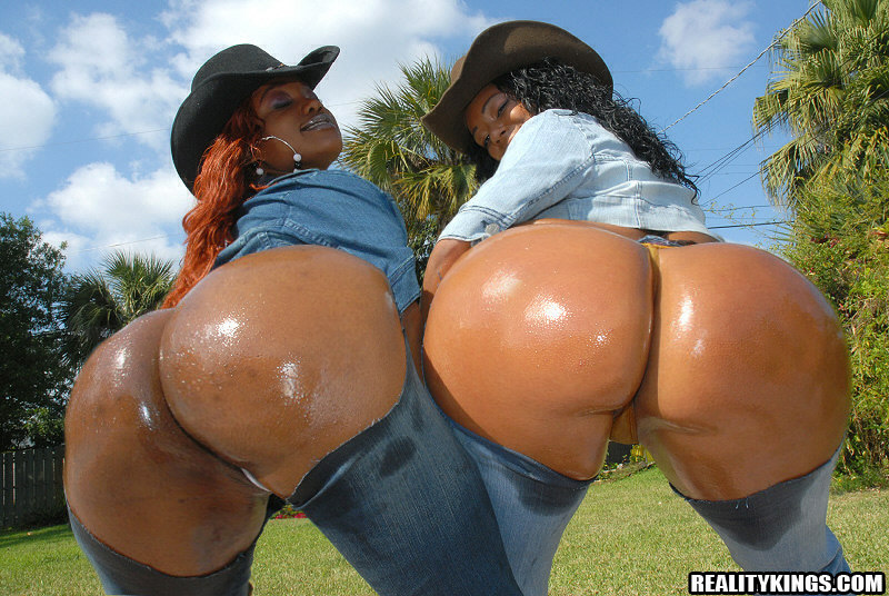 Big round ebony asses